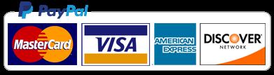 Paypal, MasterCard, Visa, American Express, Discover Network
